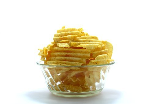 Snack, Snacking, Potato, Food, Bowl, Junk, Closeup