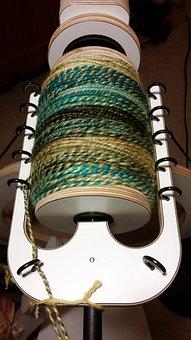Yarn, Spinning, Bobbin, Textile, Wool, Traditional