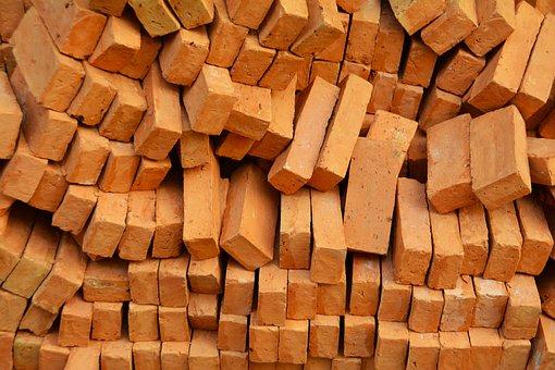 Bricks, Heap, Pile, Stack, Material, Industrial, Site