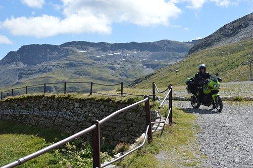 Alps, Biker, Switzerland, Travel, Outdoor