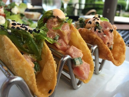 Tacos, Tuna, Tar Tar, Tuna Tartar, Food, Taco, Meal