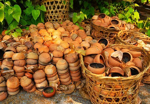 Pots, Bowls, Ceramic, Cooking, Traditional, Utensil