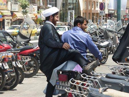 Passengers, Moped, Qom, Traffic, Road, Transport, Local