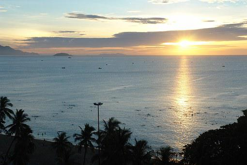 Nha Trang Bay, Khanh Hoa, Vietnam, Dawn