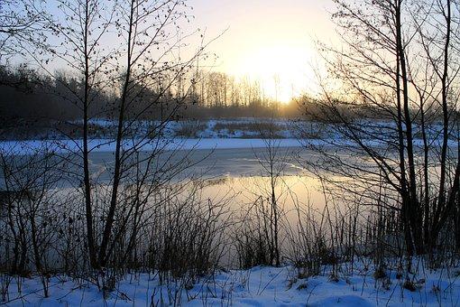 Natural, Sunset, Water, Sky, Ro, Winter, Ice Cream