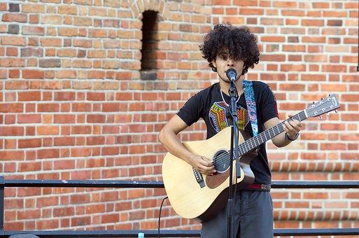 Boy, Young, Interpreting, Music, Voice, Accompaniment