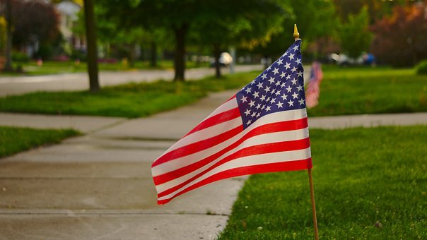 American Flag, Memorial Day, Labor Day, Labour Day