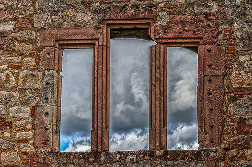 Castle, Old, Window, Frame, Masonry, Architecture