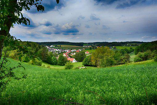 Landscape, Area, Bavaria, Nature, Field, Sky, Rush