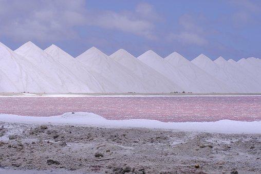 Salt, Caribbean, Pastel, Bonaire, Pink, Blue, Mounds