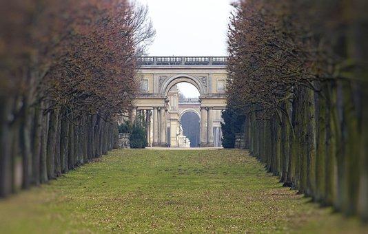 Sanssouci, Castle Park, Perspective, Potsdam