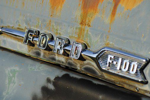 Ford, Truck, Rust, Chrome, Auto, Vintage, Old, Classic