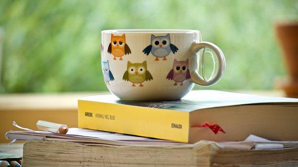 Herbal Tea, Cup, Tea, Relaxation, Drinks, Books