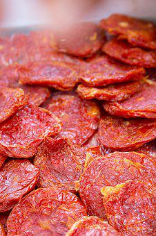Tomatoes, Dried, Red, Food, Kitchen, Eat, Healthy