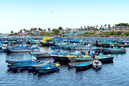Fishing Boats, Blue, Fisherman, Sea, Boat, Fishing