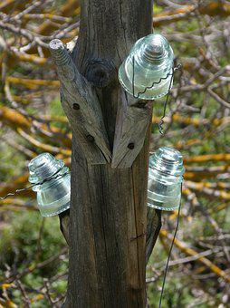 Telephone Line, Cables, Old, Abandoned, Insulators