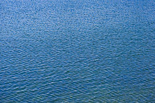 Water, Wavy, Blue, Lake, Windy, Background Image