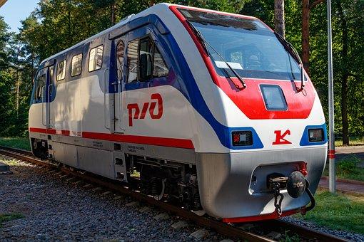 Locomotive, Diesel Locomotive, Rims, Rails, Train
