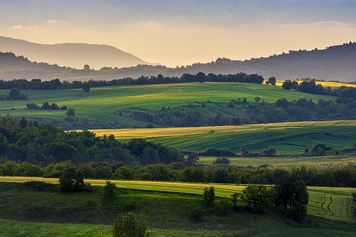 Hills, Fields, Landscape, Hill, Nature, Sky, Meadow