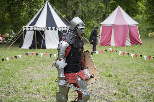 Knight, Helmet, Sword, Shield, Middle Ages, Armor