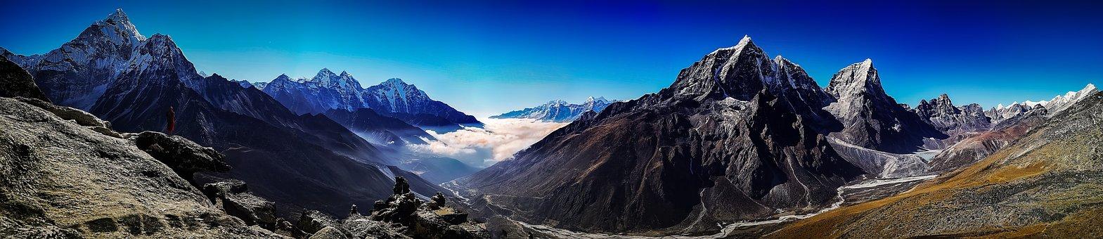 Everest Base Camp, Panoramic, Mountain, Landscape