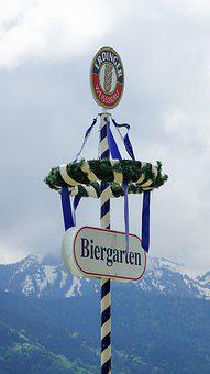Maypole, May Day, Customs, Bavaria, Mountains