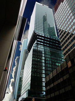 Architecture, Frankfurt, Reflection, Pattern, Glass