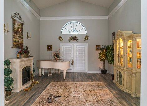 Piano Room, Interior Design, Siamese Cat, Luxury, House