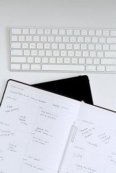 Planner, Flatlay, Calendar, Schedule, Planning