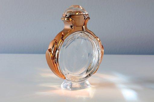 Perfume, Bottle, Still Life, Gold, Ring Shape, Light
