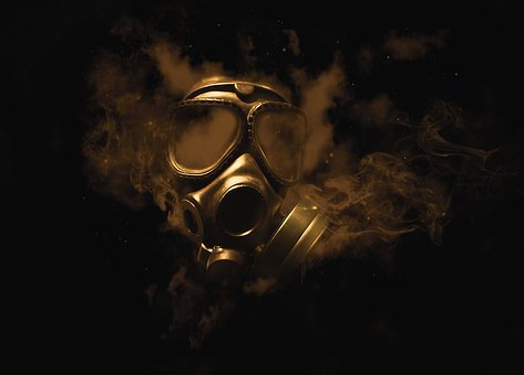 Gas Mask, Smoke, Gas, Mask, Dark, Gothic, Toxic, Oxygen