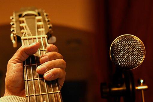 Guitar, Microphone, Music, Singer, Sound, Amplifier