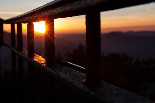 Sun, Sunset, Evening, Afterglow, Sky, Landscape, Mood