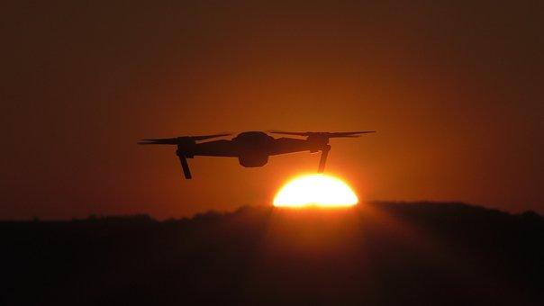 Drone, Horizon, Technology, Dawn, Dust, Future, Shine