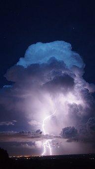 Radius, Rays, Clouds, Storm, Sky, Dramatic, Lightning