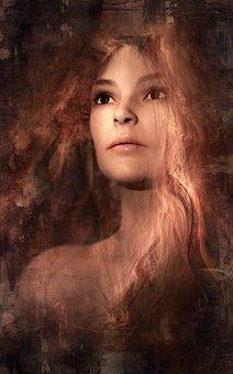 Book Cover, Portrait, Woman, Dream, Magic, Beautiful