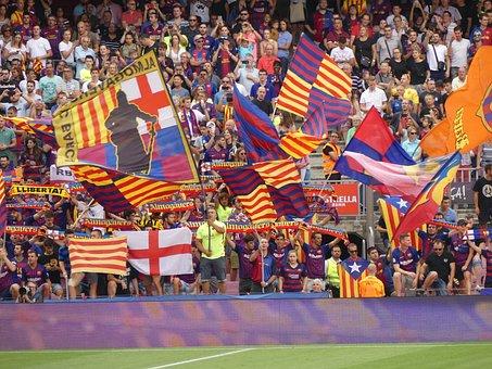 Football, Stadium, Fans, Barcelona, Arena, Team, Human