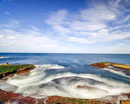 Wave, Shoreline, Sea, South Coast, Coastline, Fishing