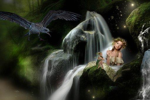 Fantasy, Nature, Landscape, Forest, Grass, Lighting