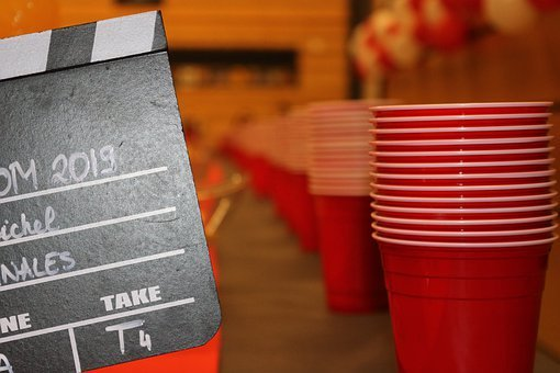 Party, Prom, 2019, Gb, Cinema, Cup, Red, Bier, Pong