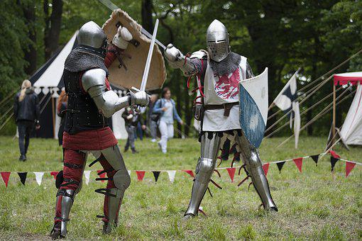 Knights, Helmet, Sword, Shield, Middle Ages, Armor
