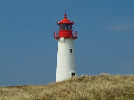 Sylt, Lighthouse, List, Island, North Sea, Beach