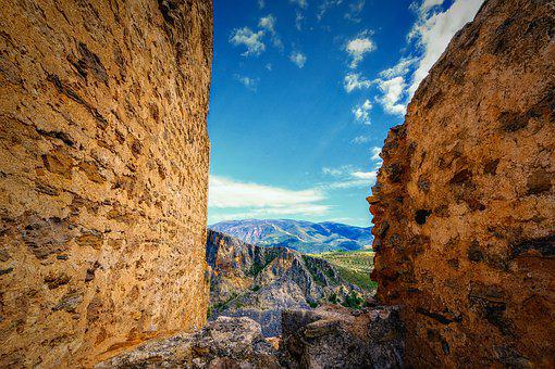 Castle, Middle Ages, Ruin, Outlook, Masonry, Landscape