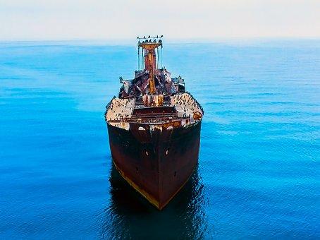 Costinesti, Aerial Photography, Mavic2, Sea, Blue, Ship