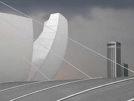 Architecture, Modern, Building, City, Urban, Grey, Gray