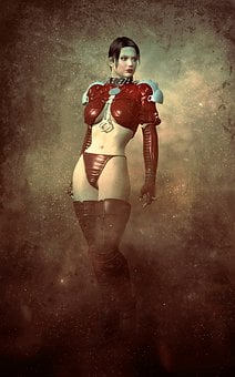 Book Cover, Woman, Amazone, Erotic, Young, Mysterious