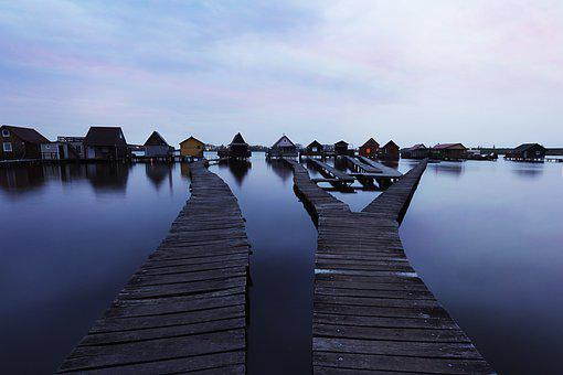 Plot, Pier, Water, Lake, House, Villa