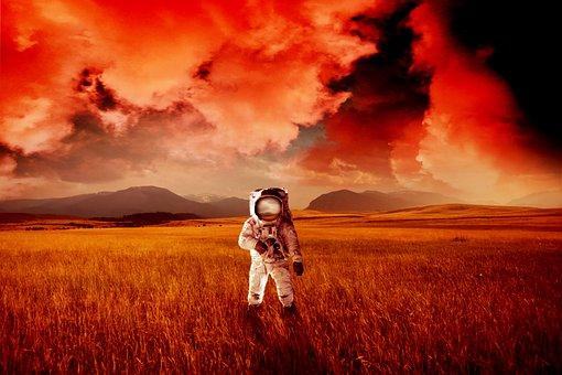 Astronaut, Galaxy, Cosmos, Fantasy, Pot, Planet