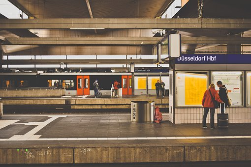 Railway Station, Platform, Architecture, Stop, Train