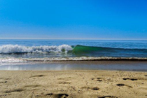 Beach, Serignan, South Of France, Sand Beach, Blue Sky